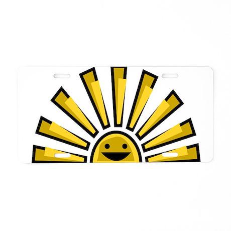 Happy Sun Aluminum License Plate