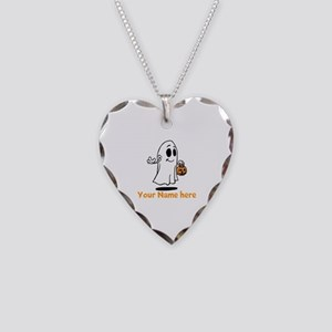 Personalized Halloween Necklace Heart Charm