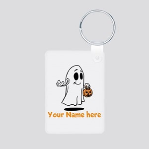 Personalized Halloween Aluminum Photo Keychain