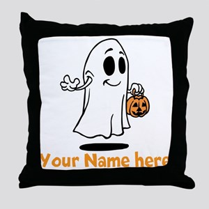 Personalized Halloween Throw Pillow