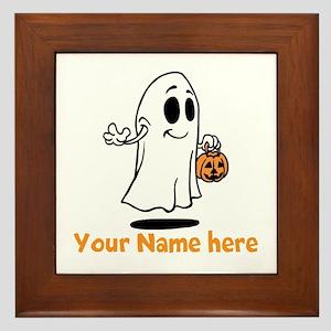 Personalized Halloween Framed Tile