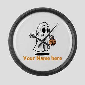 Personalized Halloween Large Wall Clock