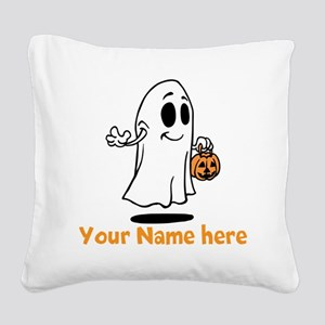 Personalized Halloween Square Canvas Pillow