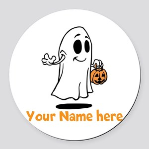 Personalized Halloween Round Car Magnet