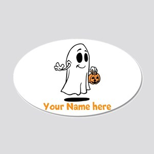 Personalized Halloween 20x12 Oval Wall Decal