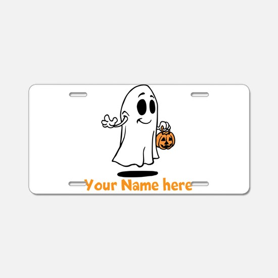 Personalized Halloween Aluminum License Plate