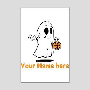 Personalized Halloween Mini Poster Print