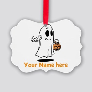 Personalized Halloween Picture Ornament
