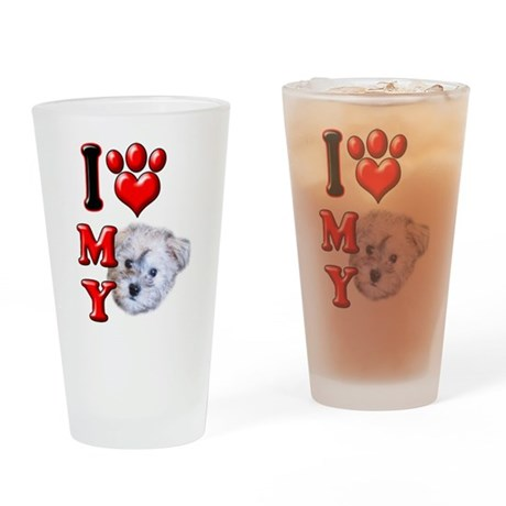 I Love My Schnoodle.png Drinking Glass