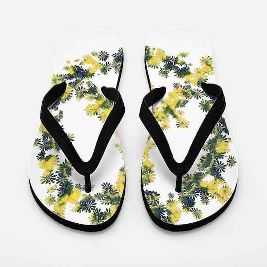 Solarium Flower Peace Flip Flops