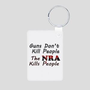The NRA Kills People Aluminum Photo Keychain