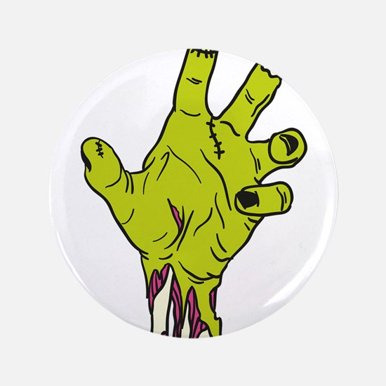 """Zombie Hand 3.5"""" Button"""