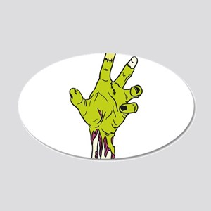 Zombie Hand 20x12 Oval Wall Decal