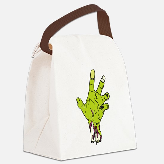 Zombie Hand Canvas Lunch Bag