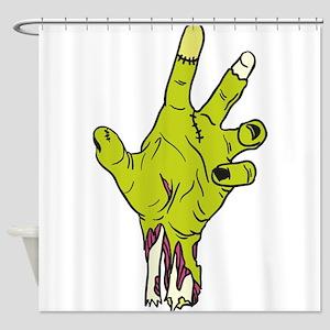 Zombie Hand Shower Curtain