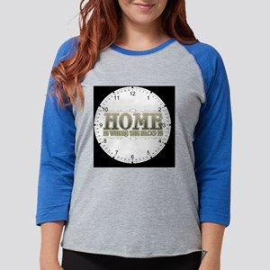 homeblogclock Womens Baseball Tee