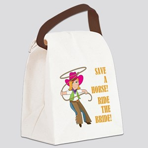 SAVE A HORSE! Canvas Lunch Bag
