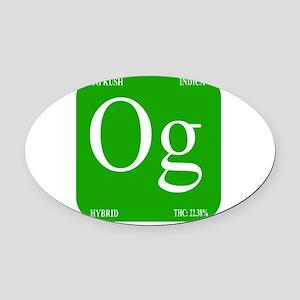 Elements - OG Oval Car Magnet