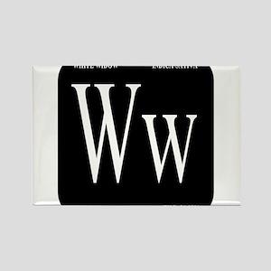 White Widow Black Rectangle Magnet