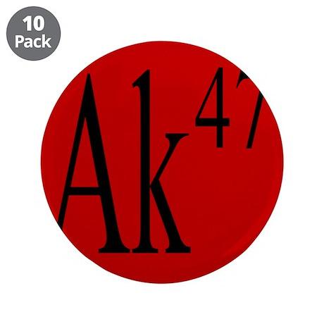 """AK-47 BLACK 3.5"""" Button (10 pack)"""