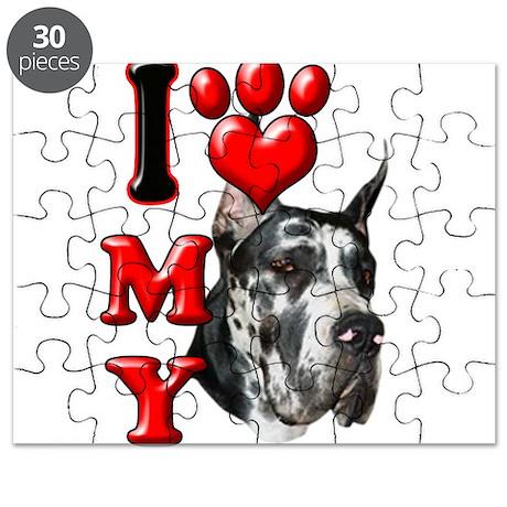 I Love My Great Dane Puzzle