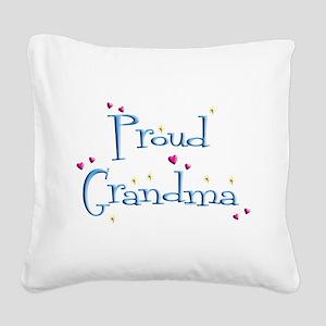 Proud Grandma Square Canvas Pillow