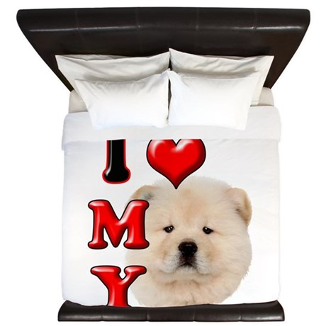I Love My Chow Chow.png King Duvet