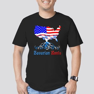 American Bavarian Roots Men's Fitted T-Shirt (dark