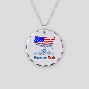 American Bavarian Roots Necklace Circle Charm
