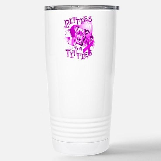 Pitties for Titties Stainless Steel Travel Mug