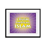 Crush Radical Islam Framed Panel Print