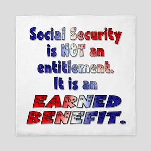 Social Security Is Not An Entitlement Queen Duvet