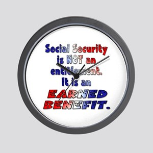 Social Security Is Not An Entitlement Wall Clock