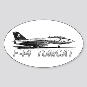 F14 Tomcat Sticker (Oval)