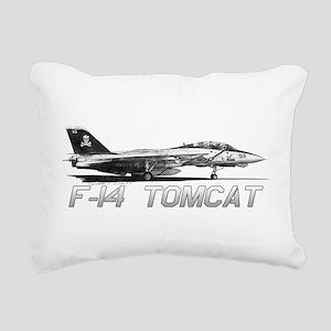 F14 Tomcat Rectangular Canvas Pillow