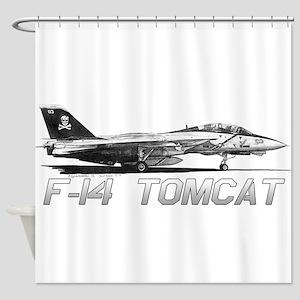 F14 Tomcat Shower Curtain