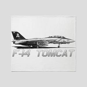 F14 Tomcat Throw Blanket