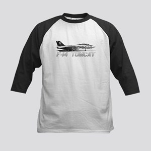 F14 Tomcat Kids Baseball Jersey