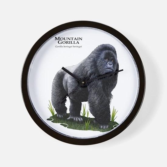 Mountain Gorilla Wall Clock