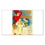 Halle Aux Chapeaux Sticker (Rectangle 50 pk)