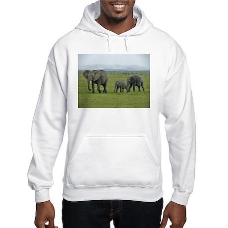 mara elephant family kenya collection Hooded Sweat
