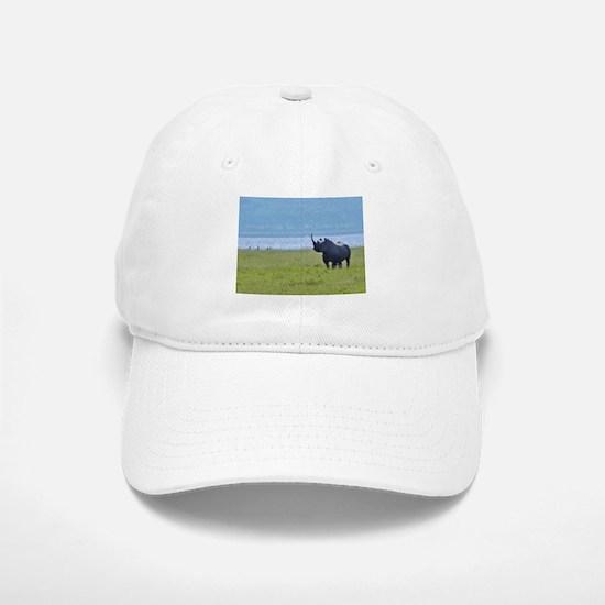 nakuru black rhino kenya collection Baseball Baseball Cap