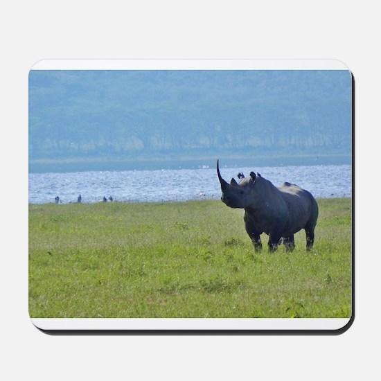 nakuru black rhino kenya collection Mousepad