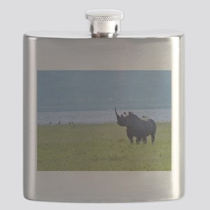 nakuru black rhino kenya collection Flask