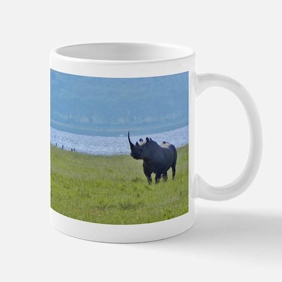 nakuru black rhino kenya collection Mug