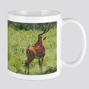 impala buck with oxpeckers kenya collection Mug