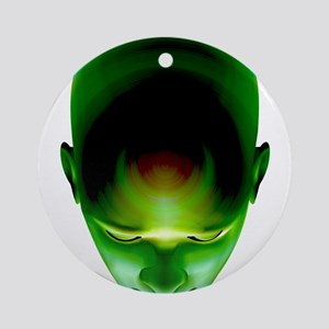 Green Head Ornament (Round)