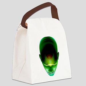 Green Head Canvas Lunch Bag