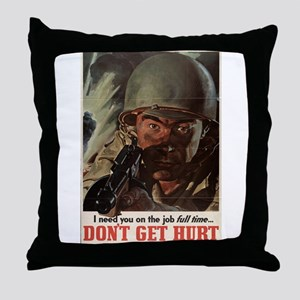 WW2 POSTER I NEED YOU ON THE JOB FULL TIME Throw P