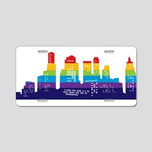 Rainbow City Aluminum License Plate